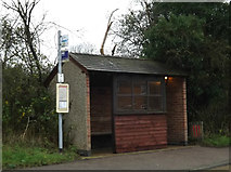 TL3656 : Bus Shelter on the B1046 Comberton Road by Adrian Cable