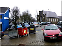H4472 : Bins parked on Church Hill, Omagh by Kenneth  Allen