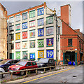 SJ8498 : Manchester's Giant Advent Calendar - 24 Days of Lever Street by David Dixon