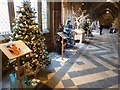 SO8454 : Christmas trees in Worcester Cathedral #2 by Philip Halling