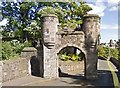 NT2285 : Rossend Castle archway by Alex McGregor