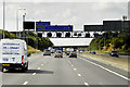SE2526 : Westbound M62, Sign and Signal Gantry near to Morley by David Dixon