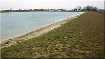 TG3811 : New reservoir by Upton South Broiler Farm by Evelyn Simak
