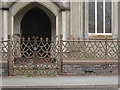 SO1091 : Cast iron railings and gates to chapel building, Milford Road, Newtown, Powys by Robin Stott