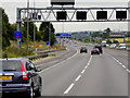 SE3325 : Signal Gantry over the M62 near to Lofthouse by David Dixon