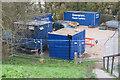 SP9114 : Repairing Startops Reservoir (11) Builders Offices by Chris Reynolds