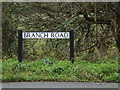 TL3857 : Branch Road sign by Adrian Cable