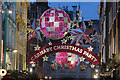 TQ2981 : Carnaby Street Christmas decorations by Oast House Archive