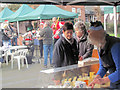 SP9211 : Cheese Stall at the Xmas Farmers' Market. Tring by Chris Reynolds