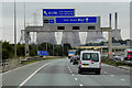 SE4423 : Overhead Sign Gantry, Eastbound M62 near Castleford by David Dixon