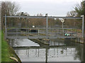 TQ3499 : Southern approach to aqueduct carrying the New River over the M25 by David Kemp