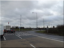 TL2210 : A6129 at the junction with the A414 by Adrian Cable