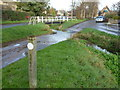 TL0484 : The Nene Way and ford on Main Street, Barnwell by Richard Humphrey