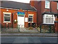 SJ7950 : Audley: Christmas decorations outside Scout Hall by Jonathan Hutchins