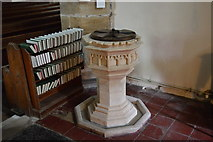 TQ4210 : Font, Church of St Thomas a Becket by N Chadwick