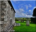 SW9642 : Caerhays, St. Michael's Church: The porchless south entrance by Michael Garlick