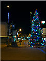 SD7807 : Town Clock and Christmas Tree, Radcliffe Piazza by David Dixon