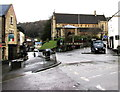 ST8599 : Staggered crossroads in the centre of Nailsworth by Jaggery