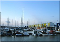 TQ3303 : West Jetty, Brighton Marina by Simon Carey