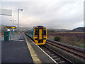 SN6998 : The 08:30 train from Aberystwyth to Shrewsbury at Dovey Junction by John Lucas