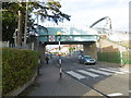 TQ1488 : The Metropolitan line passes over The Gardens at West Harrow station by Marathon