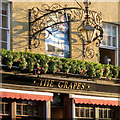 SU4211 : Signs for The Grapes, Oxford Street, Southampton by Robin Stott