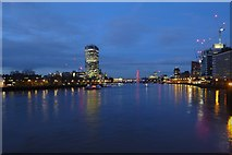 TQ3078 : The Thames from Vauxhall Bridge by DS Pugh