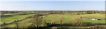 SP2772 : Panoramic view west from Kenilworth Castle by David P Howard