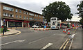 SP1479 : East on Station Road, Solihull, during street improvement works by Robin Stott