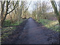 SD5427 : View along the cycle path towards the site of  the proposed link road bridge by Adam C Snape