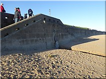 NZ3573 : Outfall on Whitley Sands by Oliver Dixon