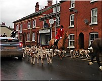 SO5139 : South Herefordshire Hunt in St Owen's Street on Boxing Day by Roger Cornfoot