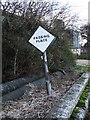 TF1404 : Passing place sign on Waterworks Lane, Glinton by Paul Bryan