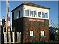 SK2129 : Tutbury Crossing signal box by M J Richardson