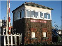 SK2129 : Tutbury Crossing signal box by M J Richardson