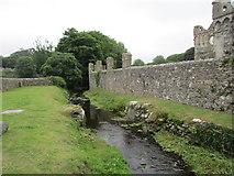 SM7525 : The River Alun by the Bishop's Palace by Jonathan Thacker