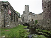 SM7525 : The River Alun in the Cathedral Close by Jonathan Thacker