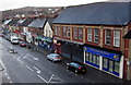 ST3089 : Long row of shops and a church, Crindau, Newport by Jaggery