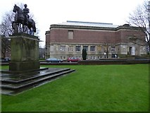 SP0583 : Barber Institute and George I statue by Philip Halling