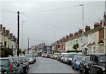 TQ1602 : Ham Road in Worthing, West Sussex by Roger  Kidd