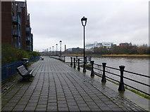 J3473 : Pathway along Ravenhill Reach, Belfast by Kenneth  Allen