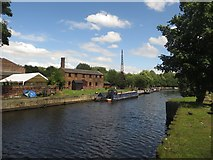 SE3231 : Thwaite Mills viewed from across the Aire and Calder Navigation by Graham Robson