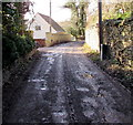 SO8400 : Muddy surface, Park Lane, Inchbrook by Jaggery