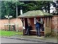 SK6762 : Eakring bus shelter by Graham Hogg