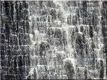 SK1789 : Derwent Dam water overflow cascade by Steve  Fareham