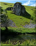 SK1357 : Peaseland Rocks overlooking the River Dove by Mat Fascione