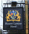 NZ2638 : Sign for the Honest Lawyer Hotel by JThomas