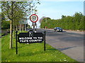 G6933 : 'Welcome to the Yeats Country' sign on the R287 by Rod Allday