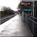 SS9681 : Electronic display board, platform 2, Pencoed railway station by Jaggery