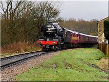 SD7914 : Flying Scotsman near Summerseat by David Dixon